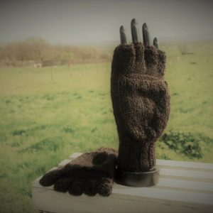 fingerless mitten gloves in black